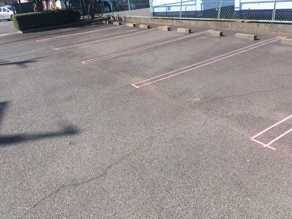 大府市 Iマンション 駐車場ライン引き工事施工前