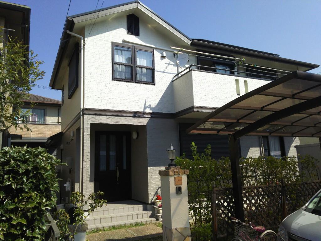 名古屋市 S様邸 外部塗装工事施工前