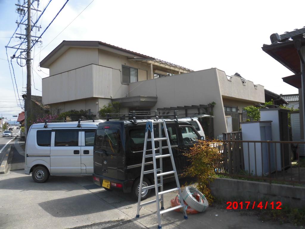 豊明市 N様邸 外部塗装工事施工前