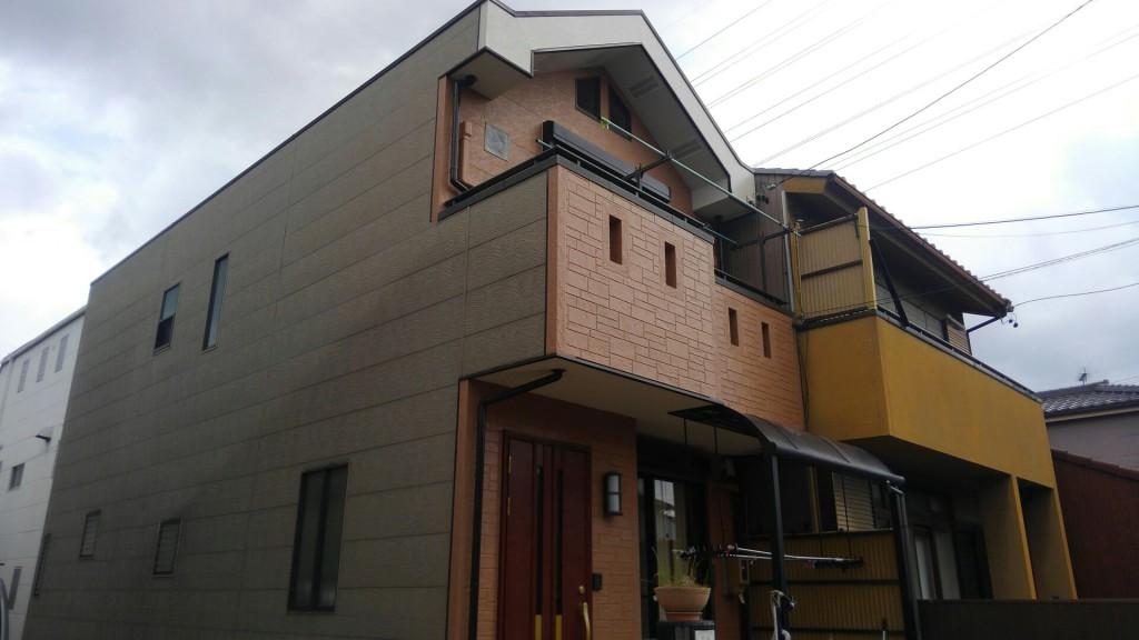 名古屋市 W様邸 外部塗装工事施工前