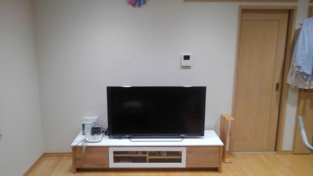 豊明市 F様邸 収納カウンター新設 テレビ壁掛け工事施工前